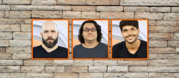 Caruso, Diego e Lucas estão no paredão do BBB18