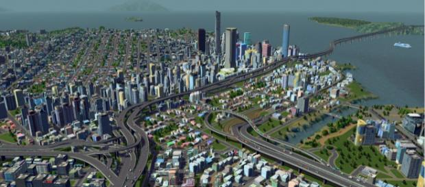 Cities: Skylines on Xbox One is going to get PC content soon ... (Image via mspoweruser/Youtube)