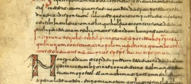 Fragmenta canonica, f. 15 v. (siglos viii-ix).