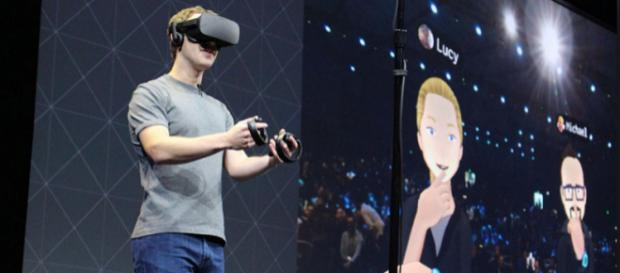 Mark Zuckerberg mostró el futuro de la realidad virtual en Facebook.