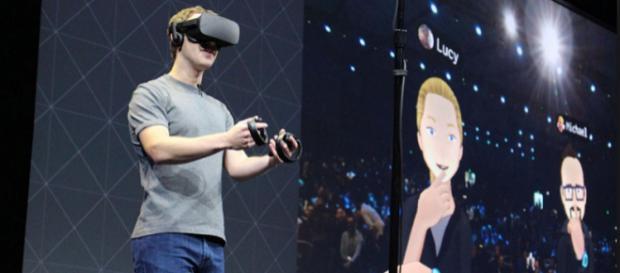 Mark Zuckerberg mostró el futuro de la realidad virtual en Facebook.