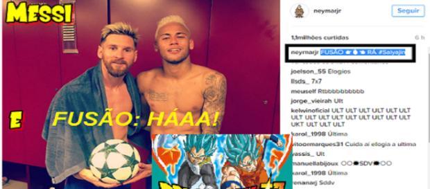 Messi e Neymar são fãs de ''Dragon Ball''