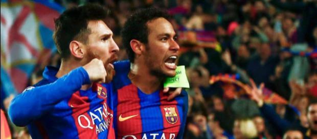 Messi und Neymar - zwei Spieler im wertvollsten Team der Welt (Quelle: thesun.co.uk)