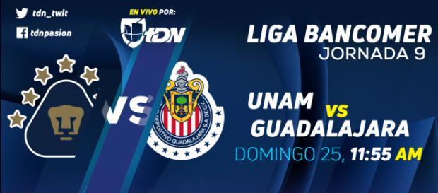 Pumas UNAM recibe a unas Chivas de Guadalajara - Televisa Deportes