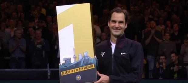 Roger Federer became the oldest world No. 1 in tennis history/ Photo: screenshot via Tennis TV channel on YouTube