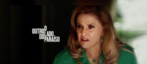 Sophia (Marieta Severo) é a grande vilã em O Outro Lado do Paraíso. (Imagem/Internet)