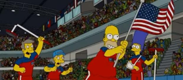 'The Simpsons' predicted the men's curling gold medal 8 years ago [Image via The Burning Desire / YouTube Screencap]