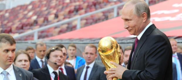 Vladimir Putin gave the start to the FIFA World Cup Trophy Tour at the Luzhniki Stadium Source: The Presidential Press and Information Office