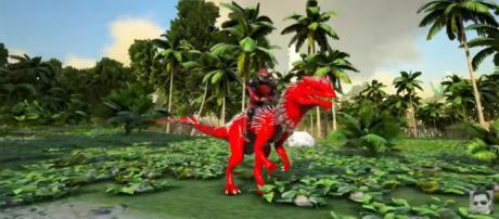 A screenshot from 'ARK: Survival Evolved' - (Image Credit: YouTube/KingDaddyDMAC)