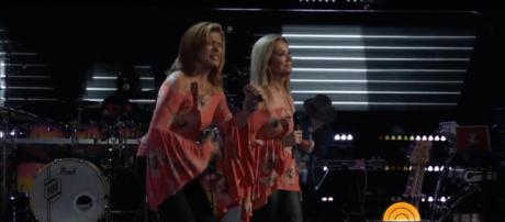 Hoda Kotb and Kathie Lee Gifford are all heart, and mostly harmony, in their blind audition for 'The Voice.' - [TODAY/ YouTube screencap]