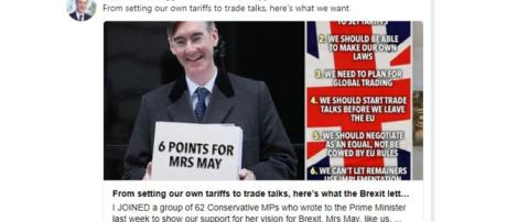 Jacob Rees-Mogg article in The Sun well received on Twitter - Image credit - Jacob Rees-Mogg   Twitter