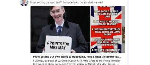 Jacob Rees-Mogg article in The Sun well received on Twitter - Image credit - Jacob Rees-Mogg | Twitter
