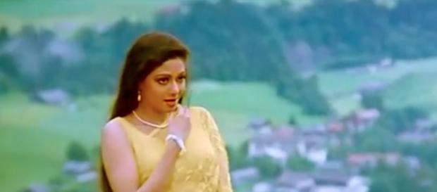 Actress Sridevi [Image Credit: Boredtill/YouTube]