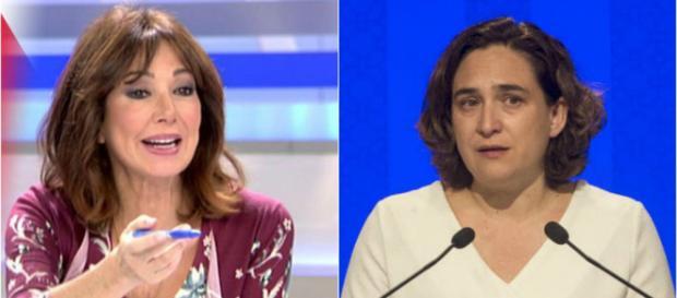 Ana Rosa Quintana y Ada Colau en imagwn