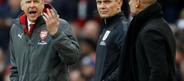 Arsen Wenger fue una figura frustrada cuando los Gunners se desvanecieron contra Man City