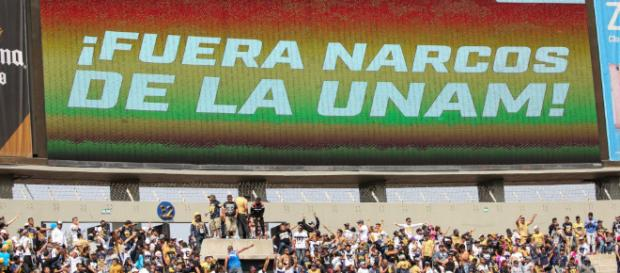 Fuera narcos de la UNAM»: piden en Estadio Olímpico - chilango.com