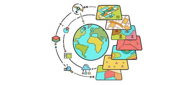 GIS puede trabajar con cualquier información que contenga datos de ubicación.