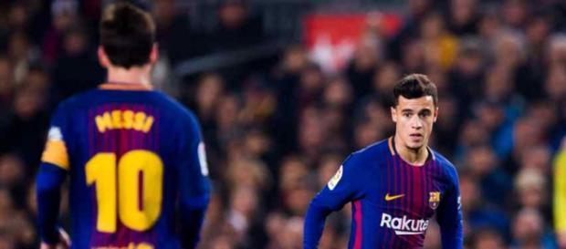 Leo Messi está gostando de jogar com o brasileiro Coutinho