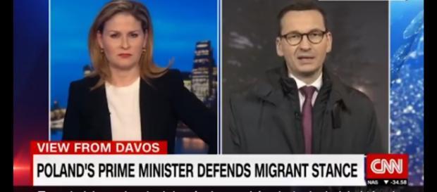 Premier Morawiecki w brytyjskiej telewizji (foto: youtube.com)