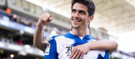 Gerard Moreno celebrando un gol