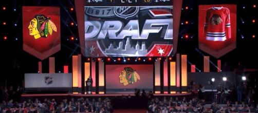 Blackhawks will have two first-rounders in 2018. [image source: bhtv/YouTube screenshot]