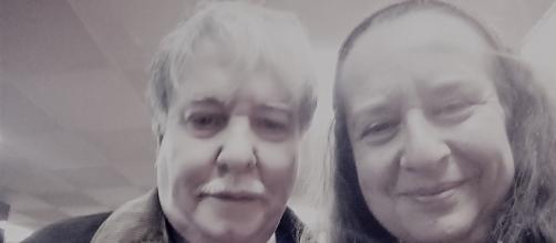 El poeta y pintor Carlos D'Ors con la escritora María Ángeles Aparicio Bello