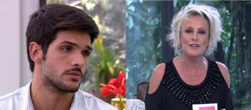 """""""Eu sabia que tinha errado"""", explica Lucas para Ana Maria Braga. (foto reprodução)."""