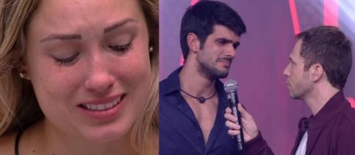 Jéssica pede que Lucas volte e chora por 30 minutos após eliminação do brother.