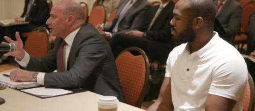 Jon Jones still has another hearing with USADA and a pending suspension upcoming [Image via MMFightingonSBN / YouTube Screencap]