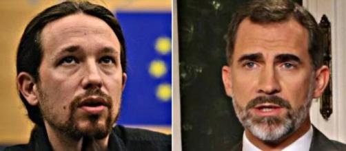 Pablo Iglesias y Felipe VI en imagen de