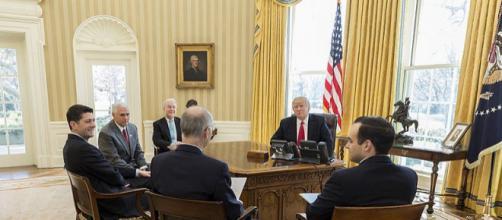 President Trump's First 100 Days (Image credit – Benjamin Applebaum, Wikimedia Commons)