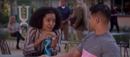Zoey wants Vivek to lay low on tonight's episode of 'Grown-ish' (TV Promos/YouTube Screencap)