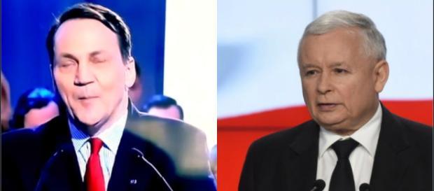 Jaroław Kaczyński vs Sikorski (foto:youtube/interia.pl)