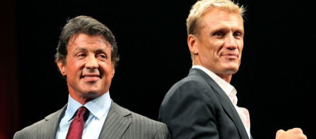 Sylvester Stallone e Dolph Lundgren, insieme sul set dopo oltre trent'anni