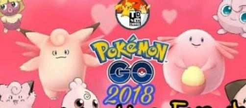 Pokemon Go 2018 Valentine's Day Event. Image Credit: Tejas Dubey / YouTube Screen shot