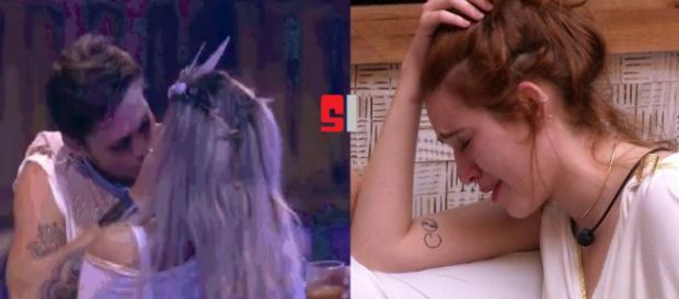 ''BBB18'': Breno beija Jaqueline e Ana Clara ameaça colocá-lo no paredão após DR