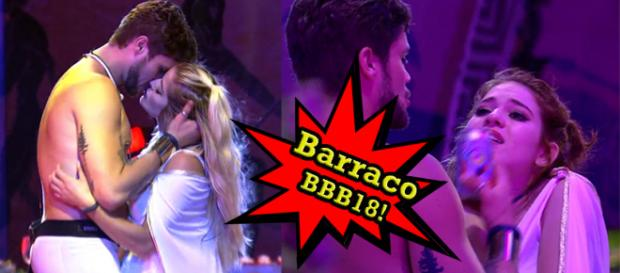 Breno está sendo disputado pelas moças desde o primeiro dia. (Imagens/Rede Globo - Montagem/Telma Myrbach)