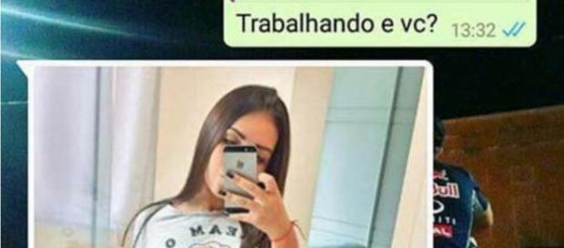 Garota tenta passar a perna no Whatsapp e vira piada com as fotos