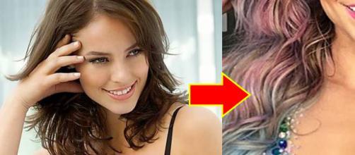 A atriz mais uma vez impressionou com sua beleza