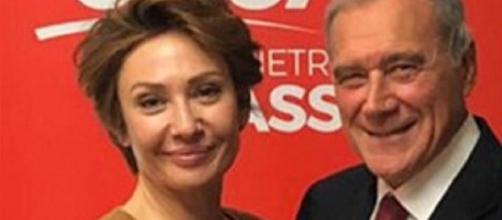 Elisa Simoni con Pietro Grasso