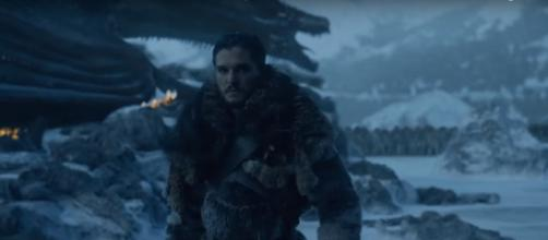 'Game of Thrones:' Jon Snow in the Battle of Frozen Lake. (Image via Kristina R, YouTube screencap)