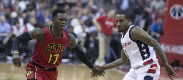 The Atlanta Hawks might consider trading Dennis Schroder before the deadline. / Photo via Keith Allison, Flickr