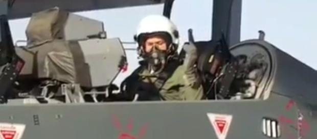US AF Chief General David L Goldfein in Tejas cockpit (Photo credit-screenshot youtube-IDRW channel)