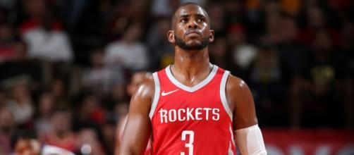 Chris Paul speaks up for LeBron James. - [Rockets / YouTube screencap]