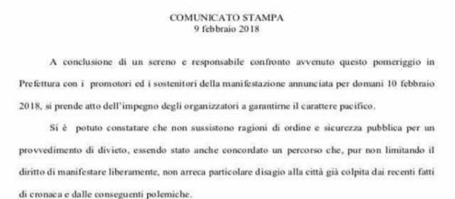 Comunicato Stampa Prefettura di Macerata