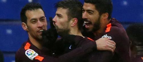 Después de dejar al RCDE con un golpe tras un derbi barceloní, Piqué queda lesionado