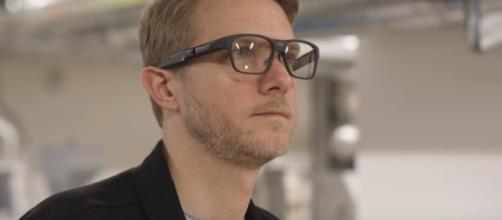 Intel's new smart glasses - youtube/The Verge