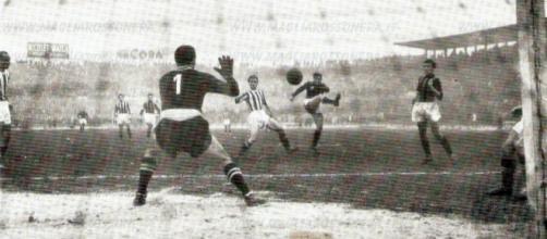Juventus-Milan 1-7 del 5 febbraio 1950: Nordhal in rete