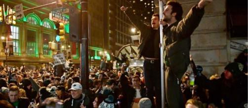 Los fanáticos de los Eagles de Filadelfia se sublevan al ganar el Super Bowl LII