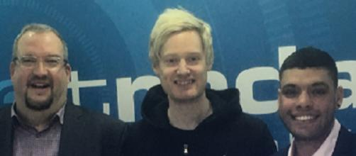 World Snooker Champ Neil Robertson and pal Vinnie Calabrese, (Middle to Right)